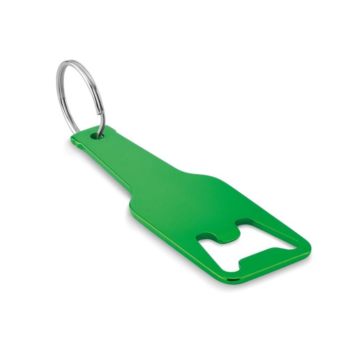 Objet promotionnel - Porte-clés decapsuleur personnalisé en alu Botelia