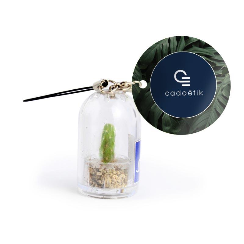 Porte-clés publicitaire en capsule cactus