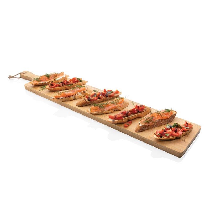 Planche en bambou publicitaire pour apéritif Ukiyo