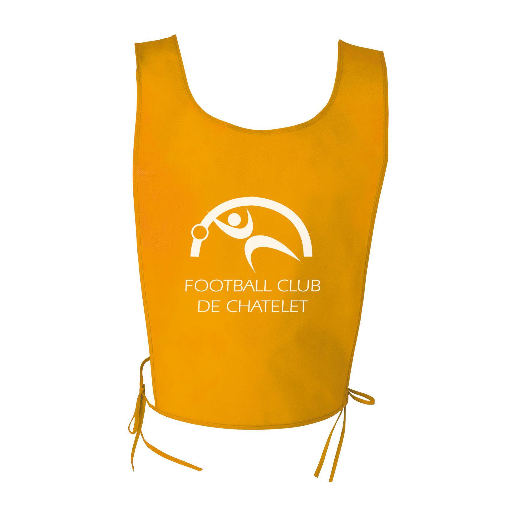 Objet publicitaire sport - Chasuble publicitaire sport Athlé - jaune