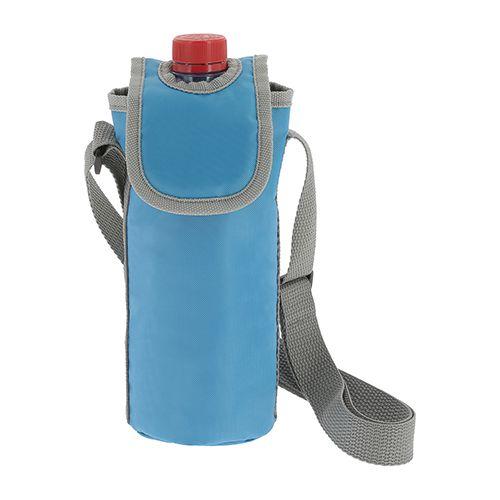 Objet publicitaire - sac isotherme publicitaire bleu pour bouteille 0,5L Easy