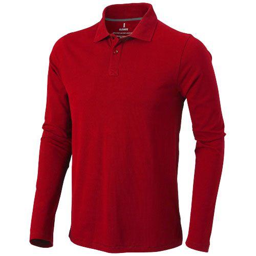 Polo rouge manches longues pour hommes