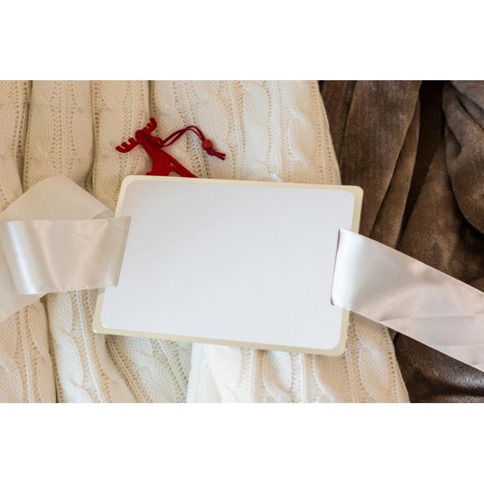 Cadeau d'entreprise pour Noël - Couverture personnalisée acrylique & sherpa Chamonix
