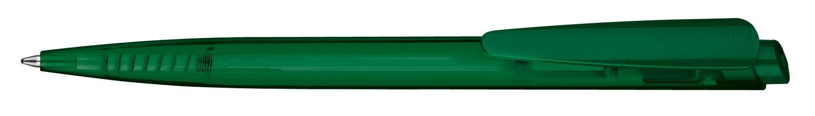 Stylo personnalisable écologique en plastique recyclé Dart Transparent