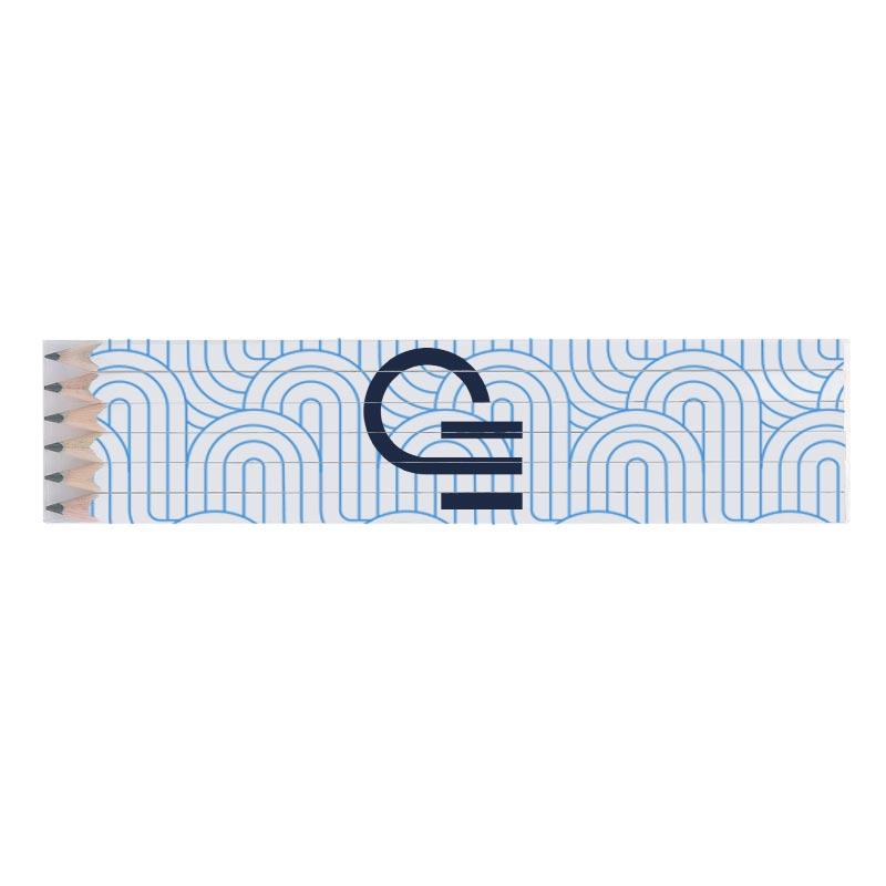 Set 6 crayons papier publicitaire écolos quadri 17,6