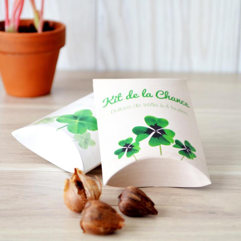 Goodies green - Berlingot Trèfle à 4 feuilles 50x80x20 mm