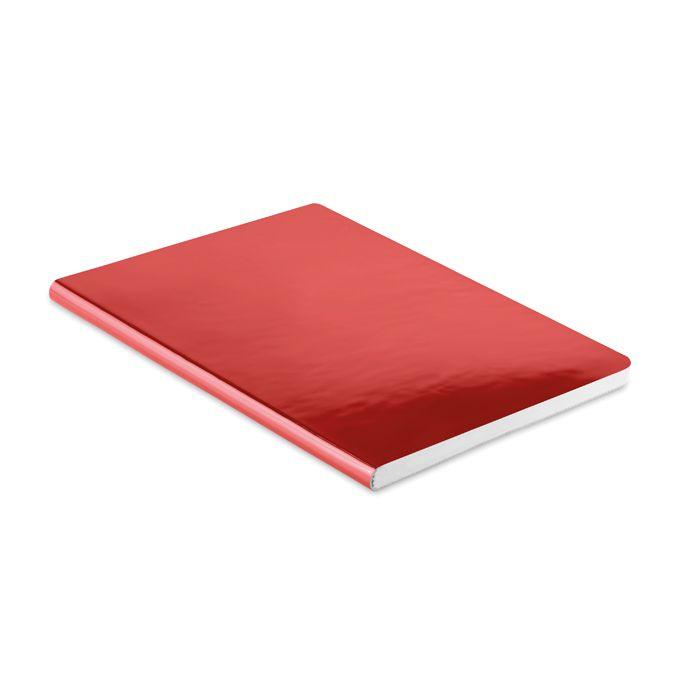 Carnet personnalisé A5 brillant rouge Sparkling - carnet publicitaire