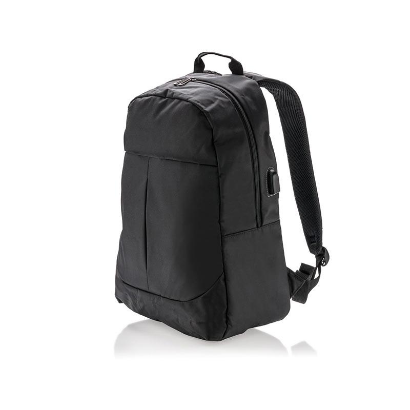 Cadeau publicitaire - Sac à dos pour ordinateur avec prise USB Tool