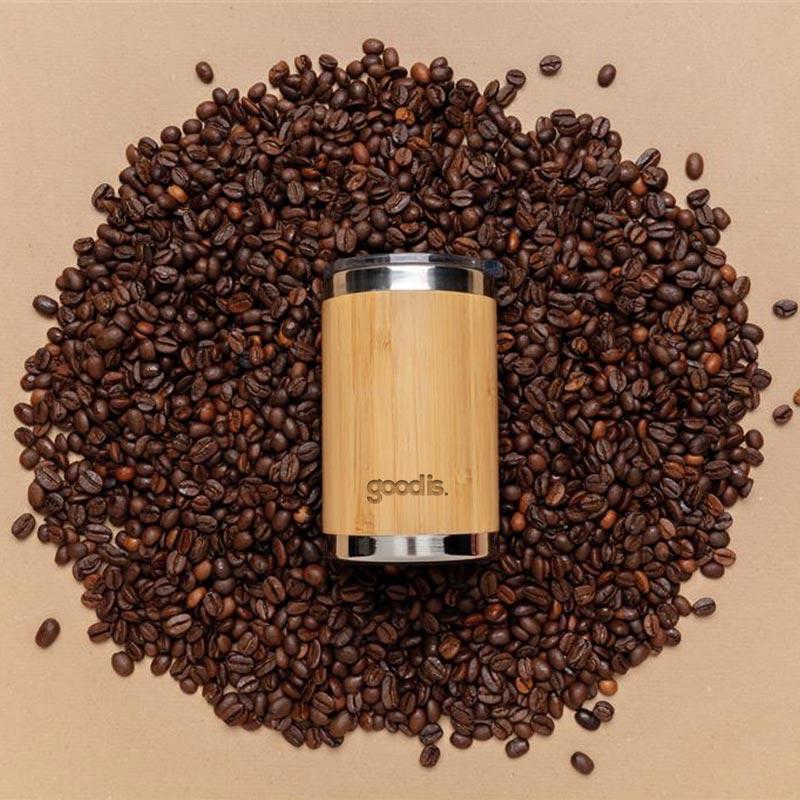 Mug promotionnel coffee-to-go en bambou Kekope