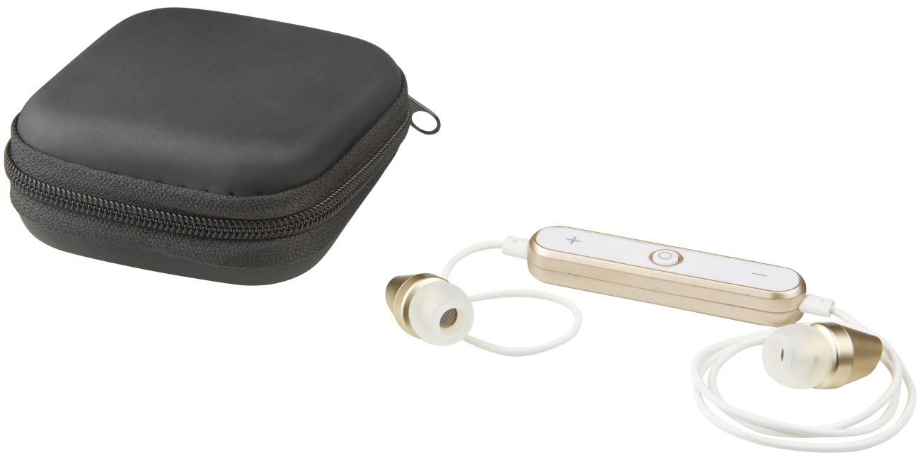 Cadeau promotionnel - Ecouteurs publicitaires Bluetooth® Shiny