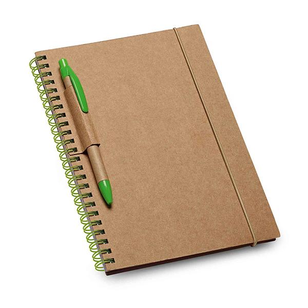 Carnet personnalisable écologique Homely naturel/blanc - carnet personnalisable