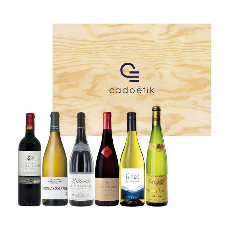 Cadeau d'entreprise de fin d'année - Coffret vin 6 bouteilles Tour de France