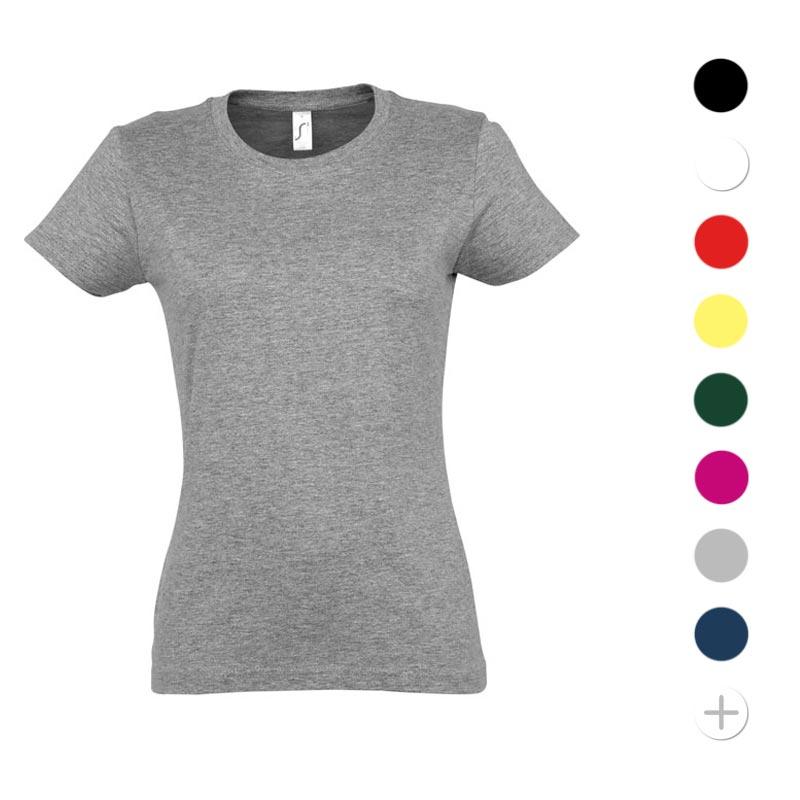 T- shirt publicitaire femme en coton Imperial 190 g - Coloris disponibles