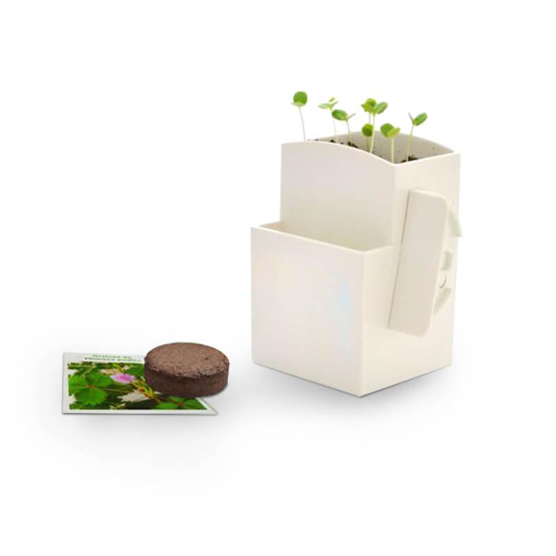 Cadeau publicitaire écologique - La végétal-Box avec plante dépolluante