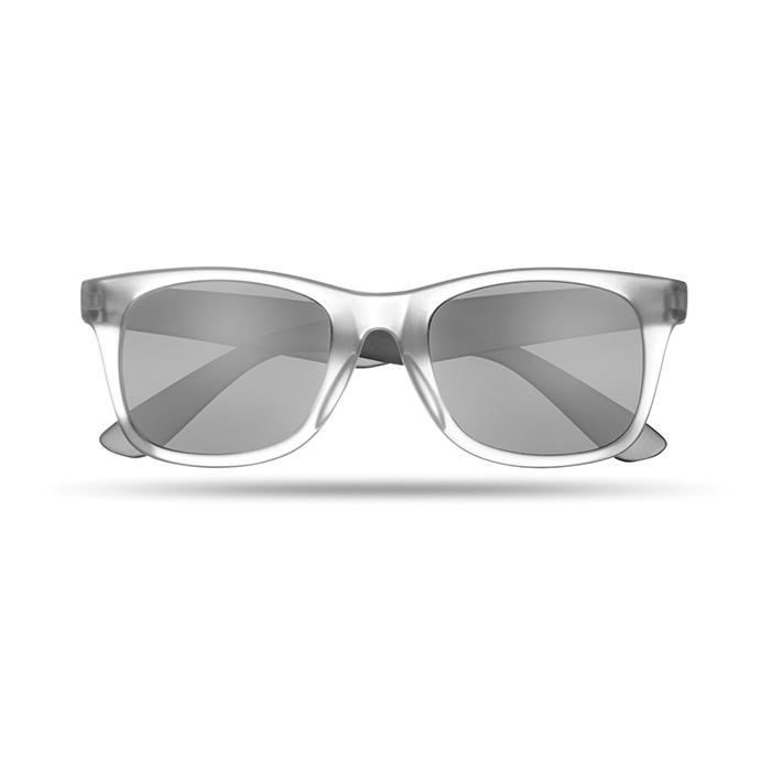 Lunettes de soleil publicitaires America Touch blanc transparent - Cadeau d'entreprise