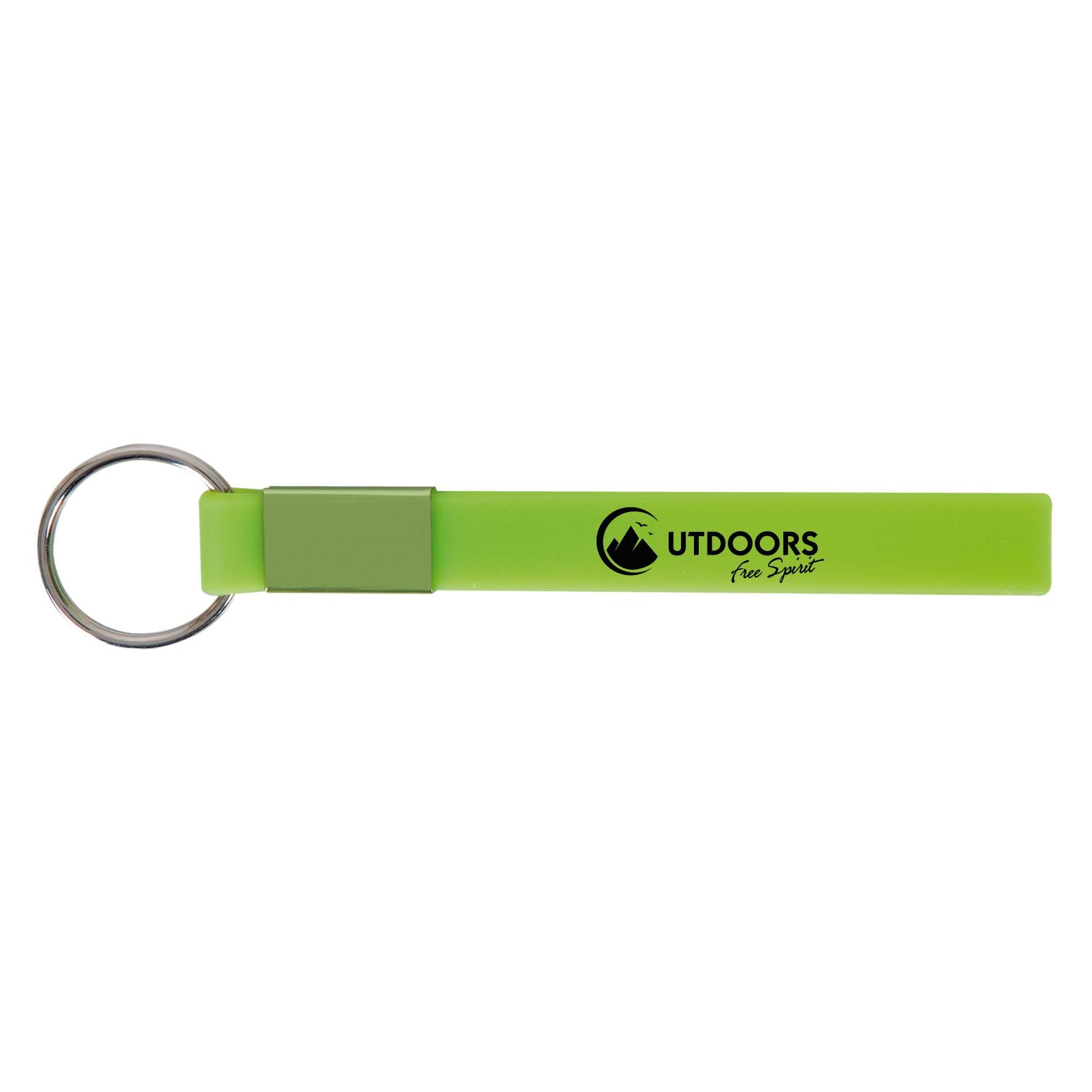 Goodies - Porte-clés publicitaire Lanyard silicone - vert anis