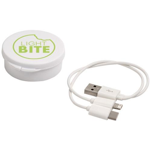 Goodies entreprise - Câble de recharge avec boîte personnalisée 3-en-1 Versa