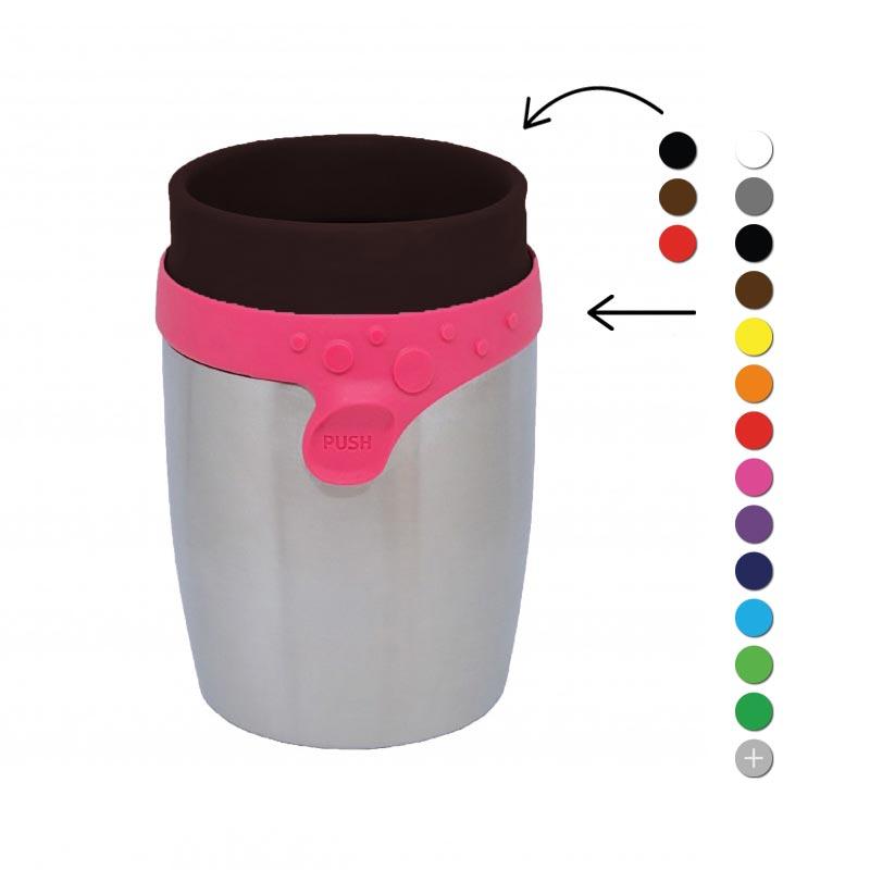 Mug isotherme personnalisé Steel Twizz 200 mL - Coloris disponibles