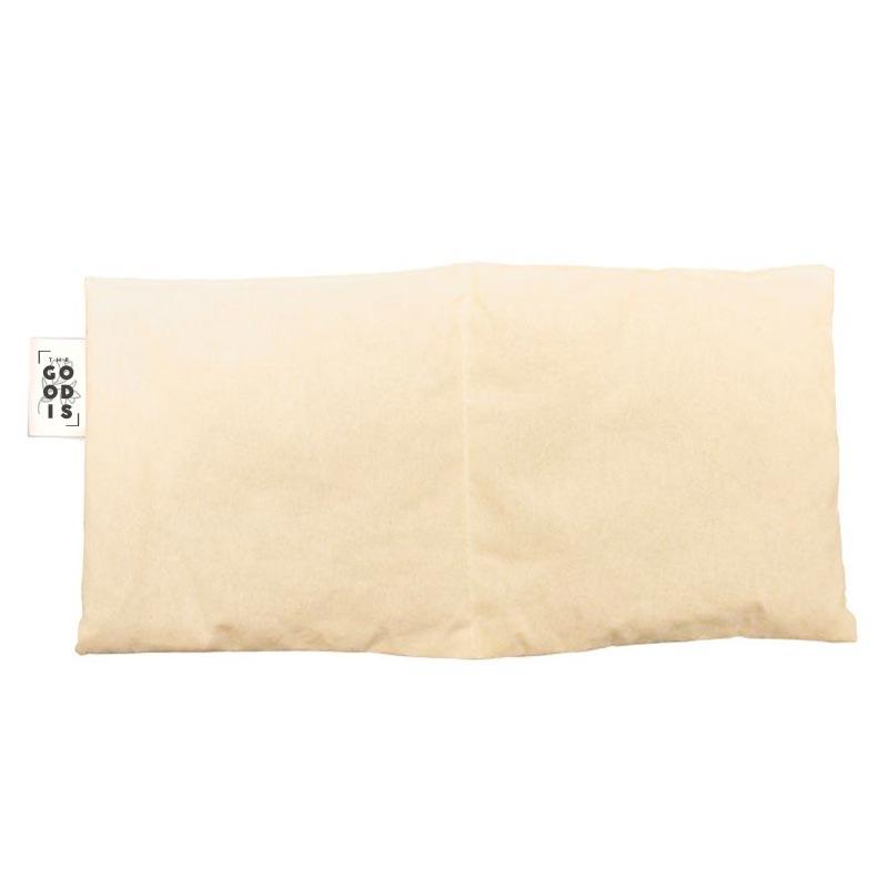 Coussin de noyaux de cerise publicitaire en coton bio 2 compartiments - Étiquette personnalisable