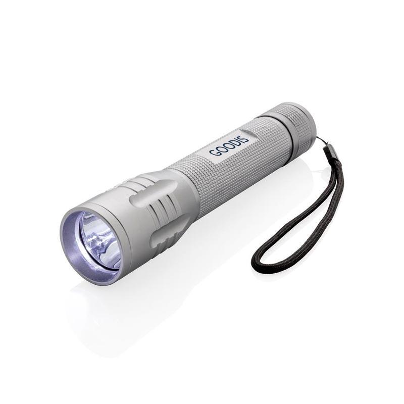 Lampe torche personnalisée CREE 3W Large - gris