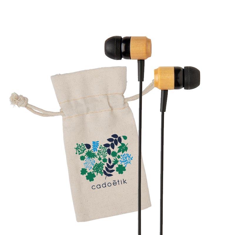 Ecouteurs sans fil en bambou Kali - Goodies green