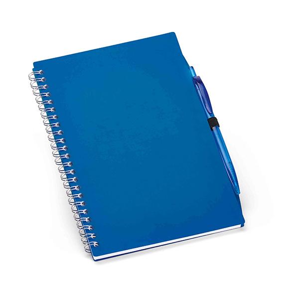 Carnet personnalisable Huddle bleu - carnet promotionnel