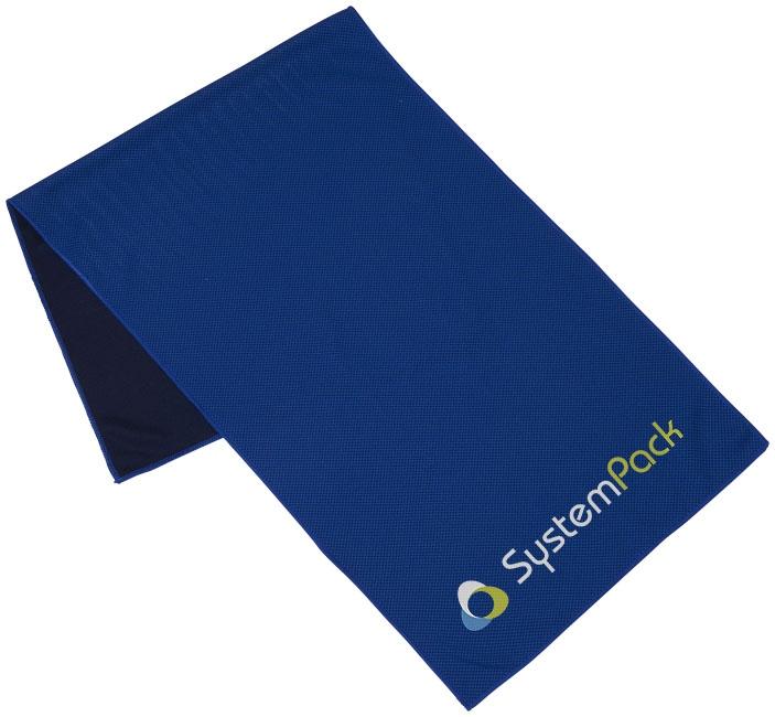 Objet publicitaire pour le sport - Serviette de fitness Alpha - bleu