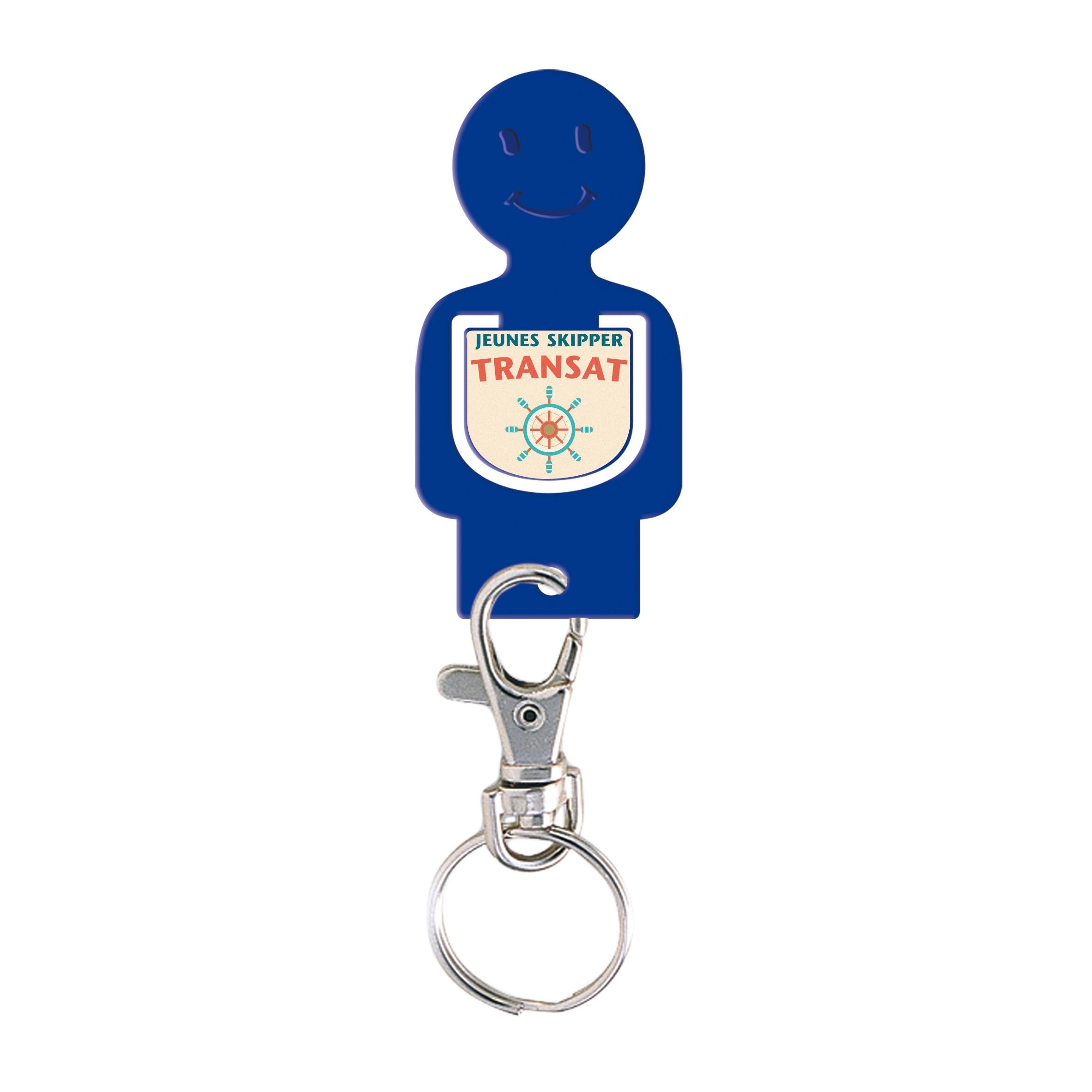 Porte-clés publicitaire jeton caddie Figurine - Goodies - bleu