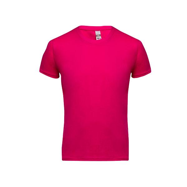 T-shirt personnalisable unisexe pour enfant Quito couleur fushia