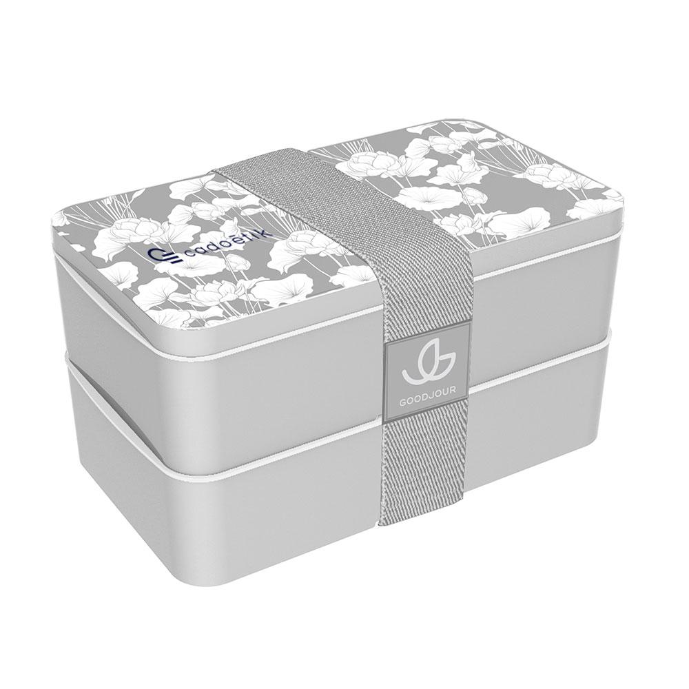 Lunch box publicitaire à motif fleuri Goodjour 1