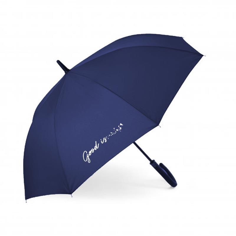 parapluie publicitaire droit rainy bleu