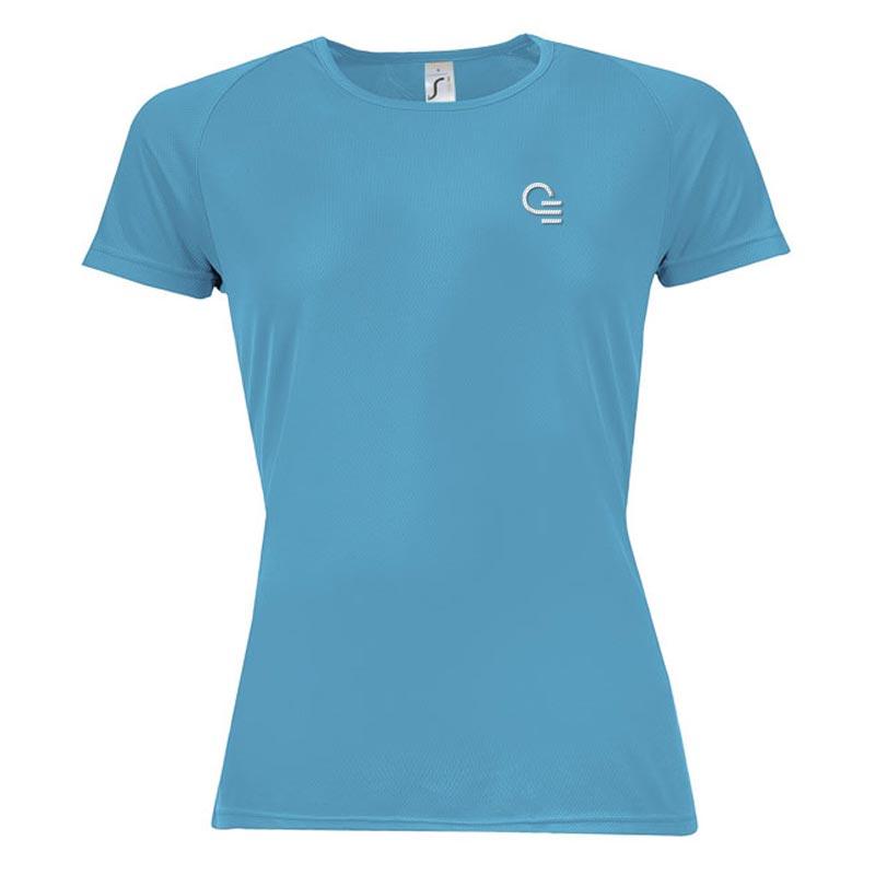 T-shirt publicitaire femme Sporty - Coloris bleu