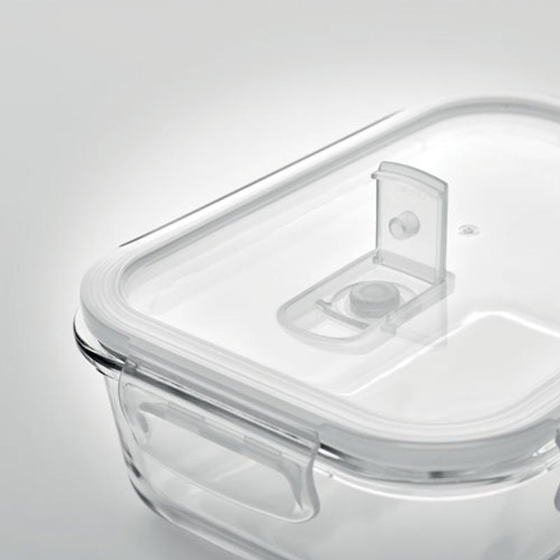 Lunch-box personnalisé en verre Praga - cadeau d'entreprise