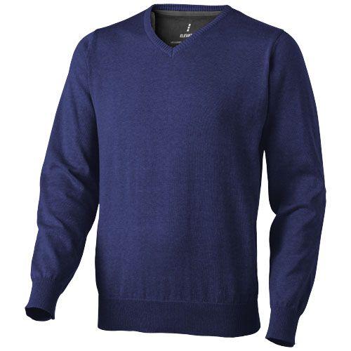 Pullover à personnaliser Col V gris