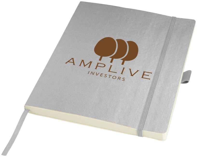 Carnet personnalisé - Bloc-notes publicitaire Journalbooks® IPad - argent