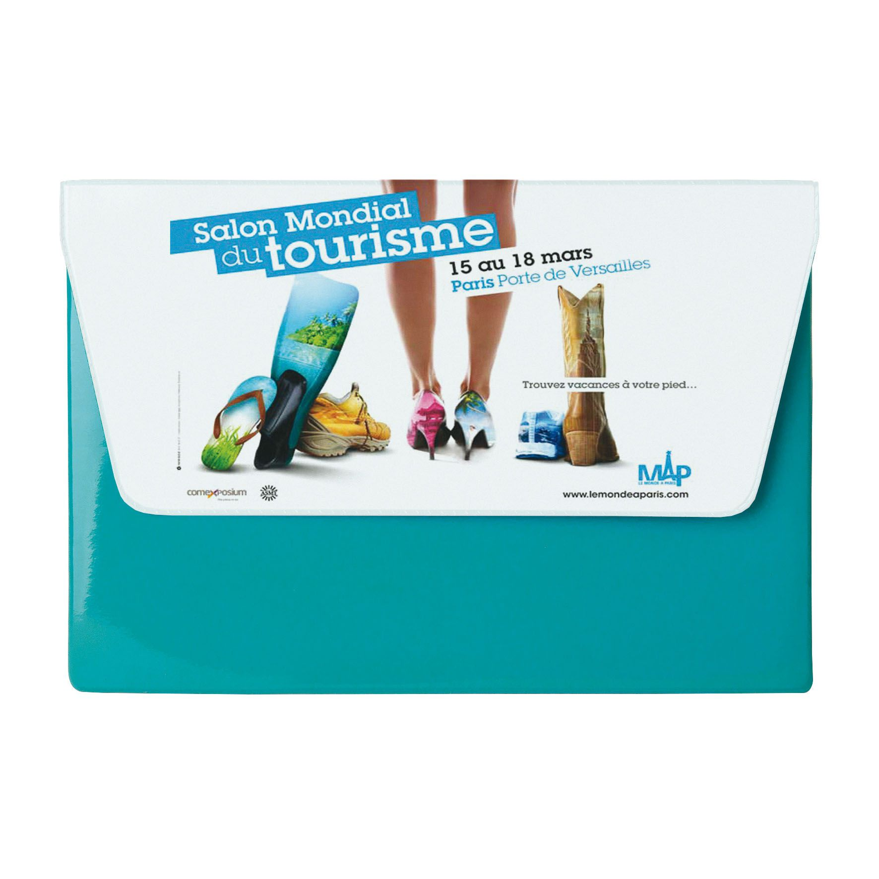 Cadeau publicitaire - Pochette de voyage publicitaire 1 poche A5 - marron