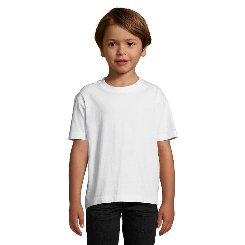 tee-shirt publicitaire enfant en coton - coloris blanc