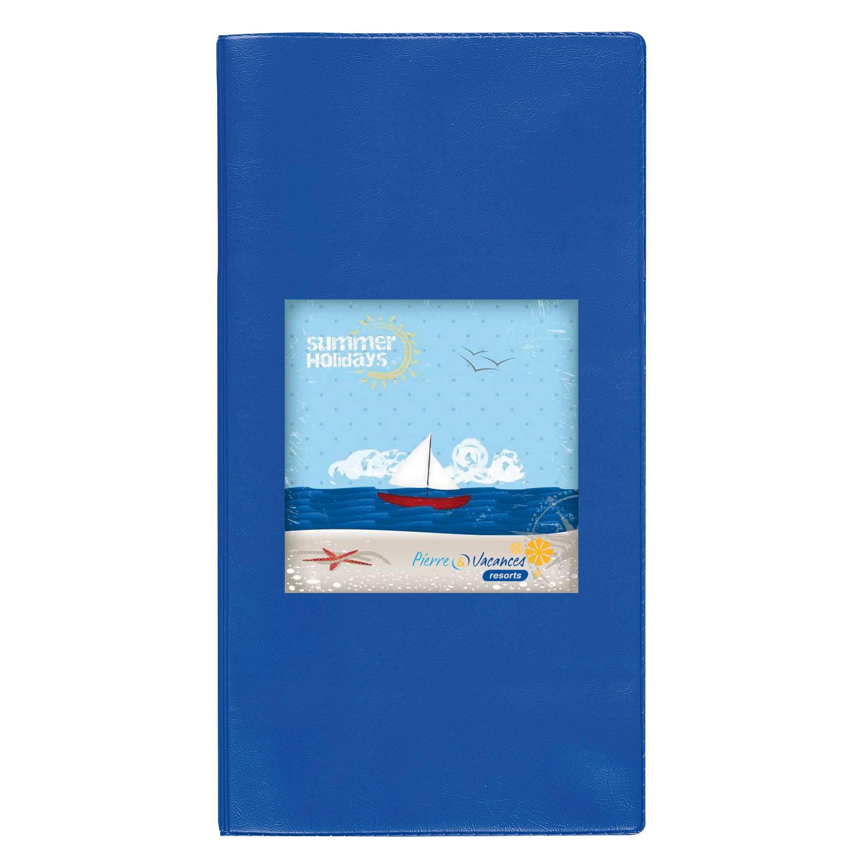 Pochette de voyage publicitaire Verticale - bleu