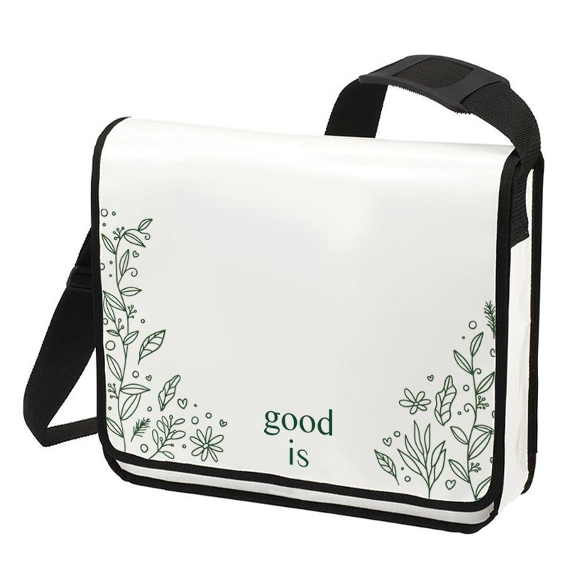 Sacoche publicitaire Flapbag Modul 1 horizontal - Blanc