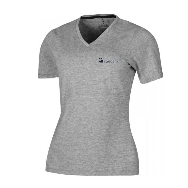 T-shirt bio manches personnalisable courtes pour femmes Kawartha