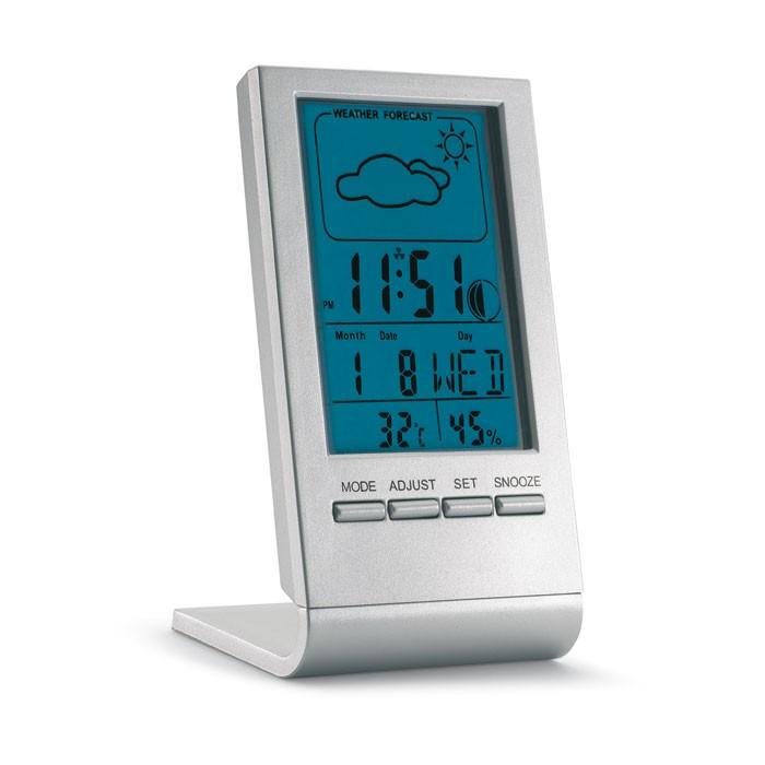 Station météo publicitaire écran LCD Bleu