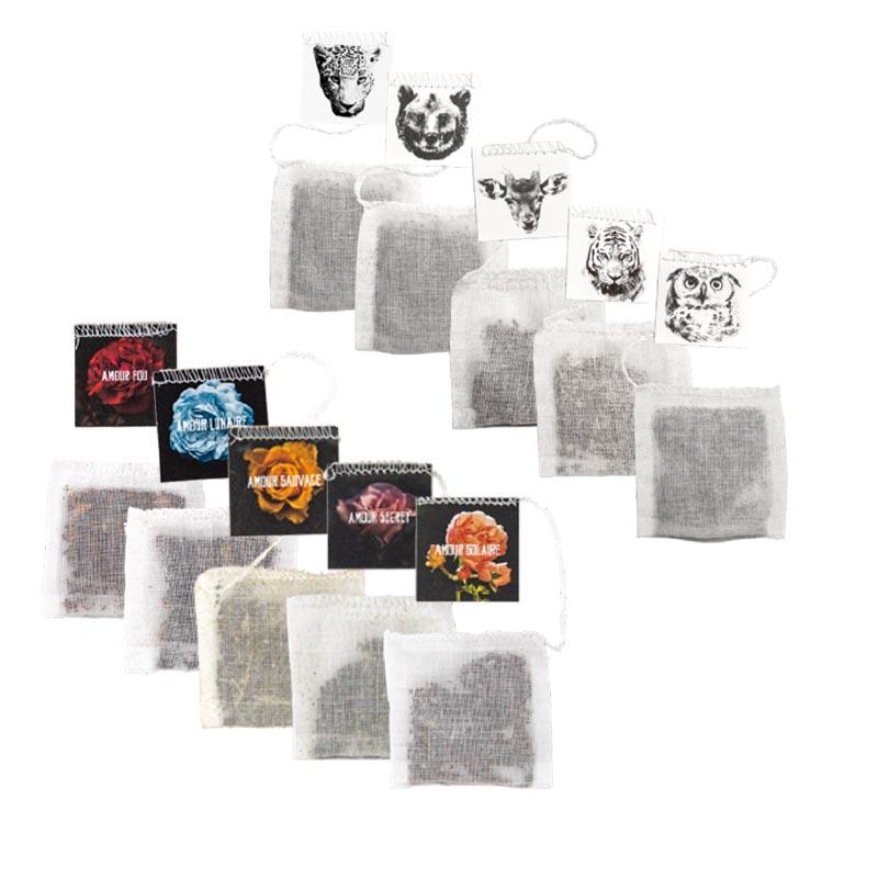 Sachets de thé publicitaires - option de personnalisation des étiquettes