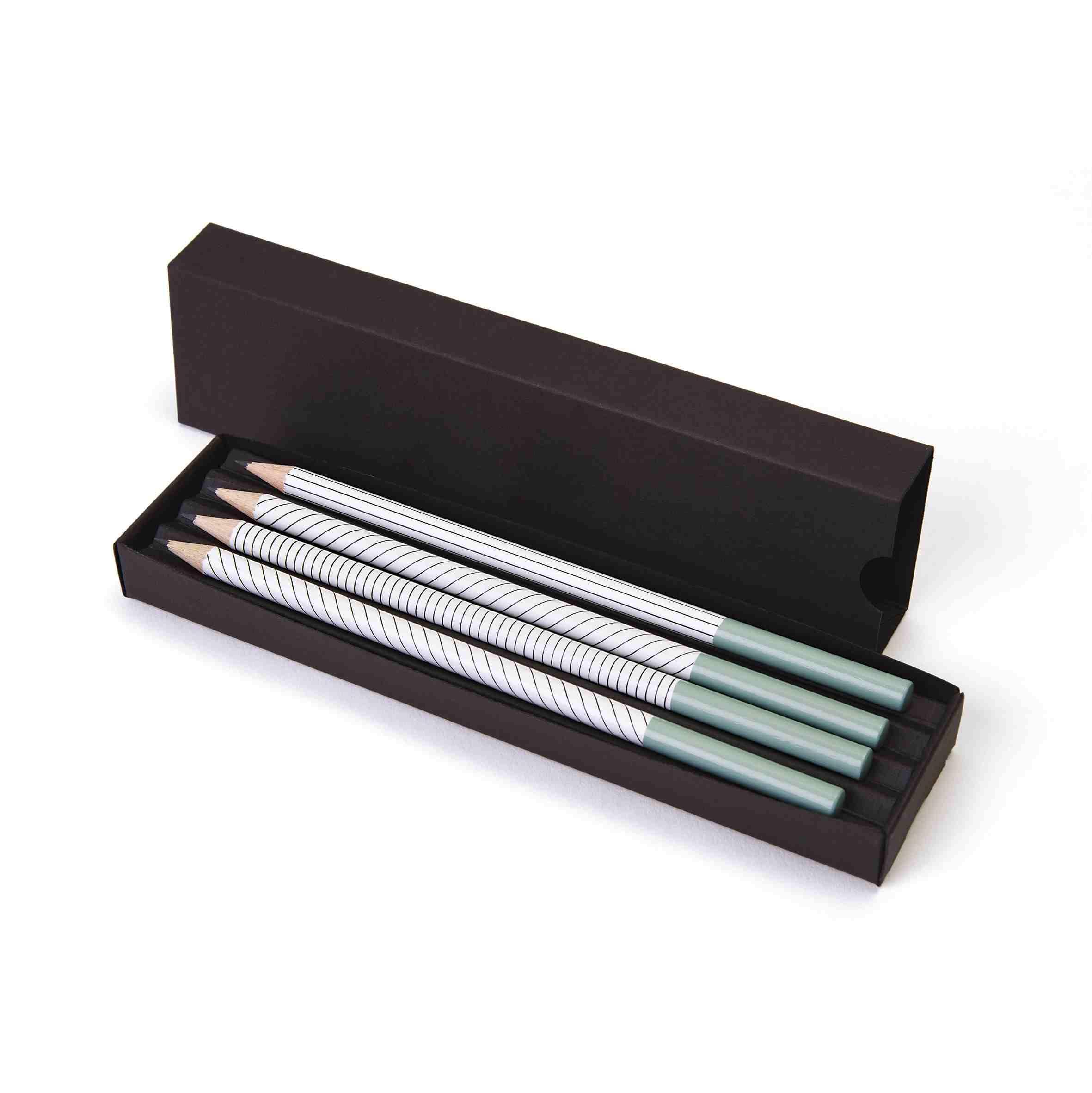 crayons publicitaires - kit 4 crayons publicitaires personnalisés Graph