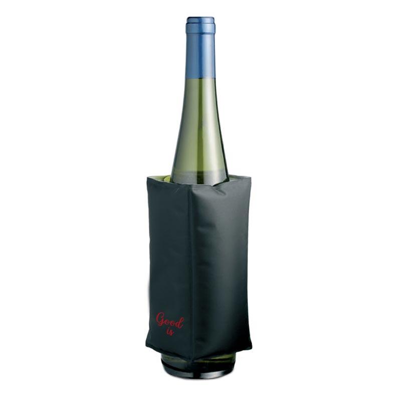 Housse rafraîchissante à vin Terras - Accessoire sommelier publicitaire