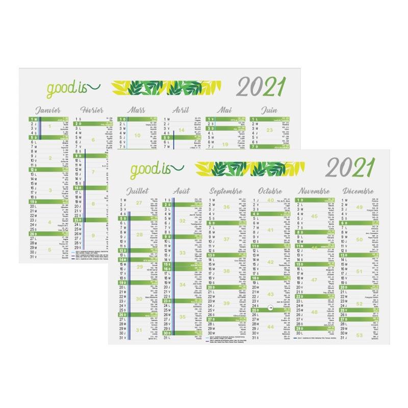 Calendrier personnalisé bancaire Cartonné Standard 2021