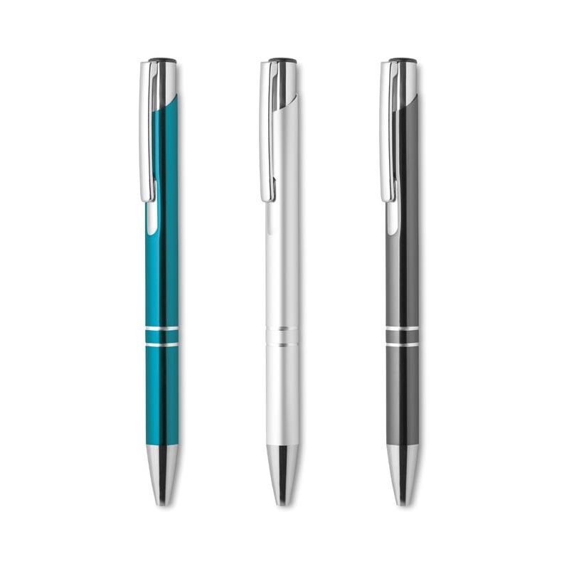 stylo personnalisé métal blanc Bern - cadeau publicitaire