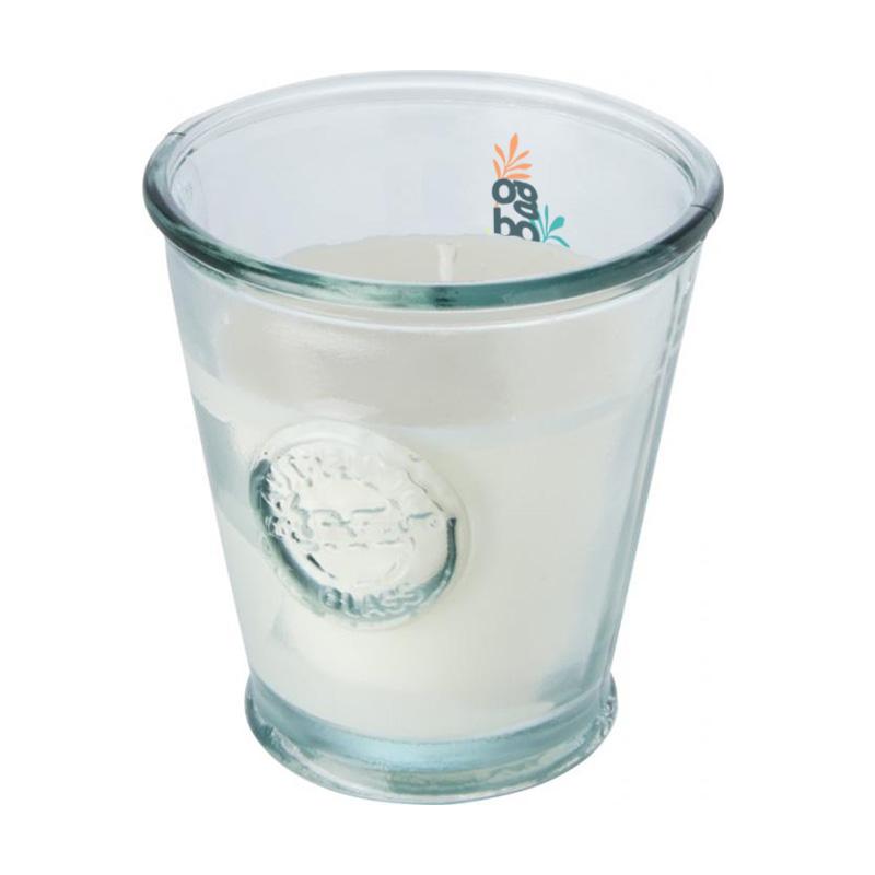 Bougie publicitaire de soja en verre recyclé Luzz 3