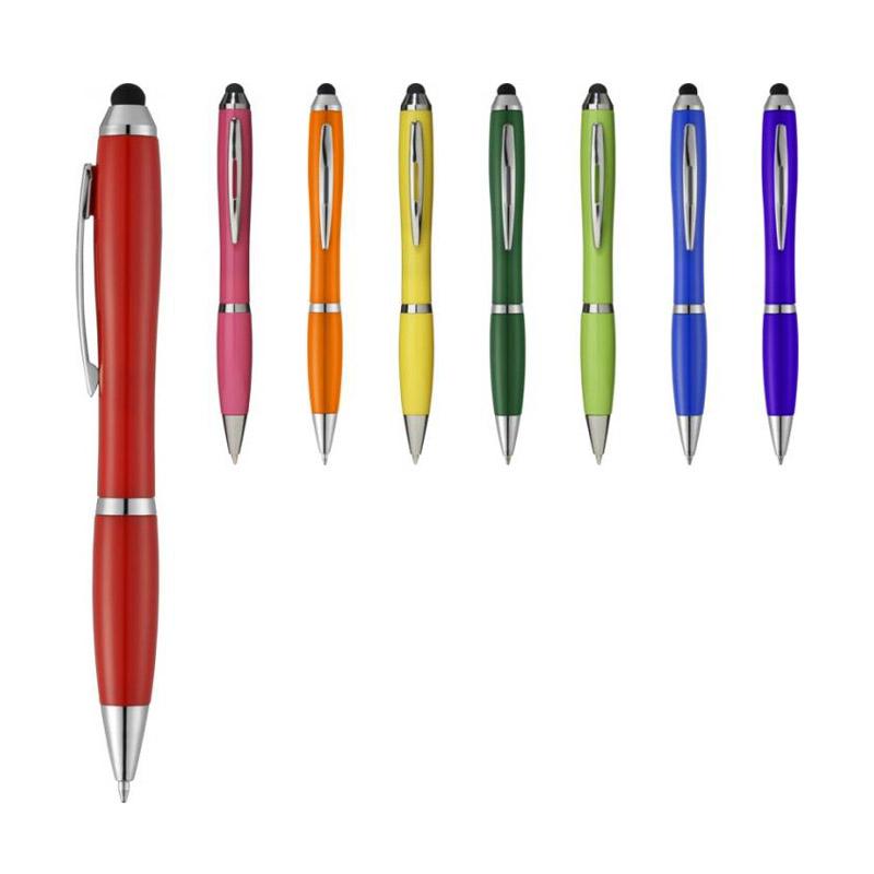 Stylo-stylet promotionnel Nash uni - stylo publicitaire bleu