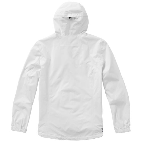 Veste de pluie étanche personnalisable pour hommes labrador - rouge