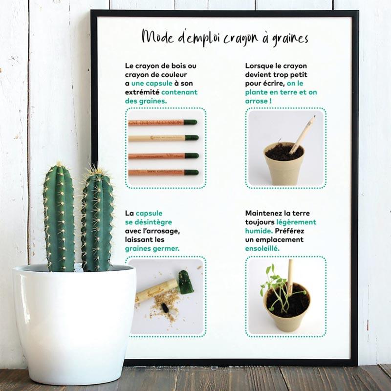Crayon publicitaire à planter et marque-page
